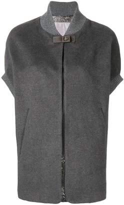 Herno contrast panel cape-coat