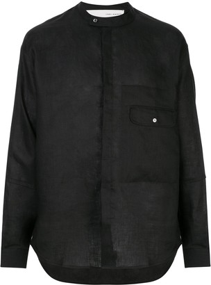 Isabel Benenato flap pocket shirt