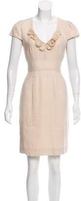 Rebecca Taylor Linen-Blend Mini Dress