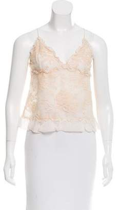Valentino Silk Guipure Lace Top w/ Tags