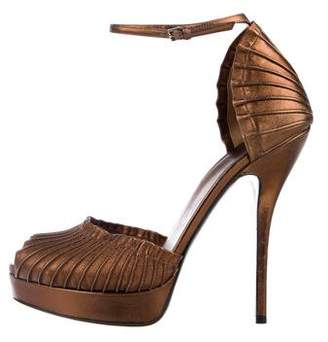 Gucci High Heel Leather Sandals