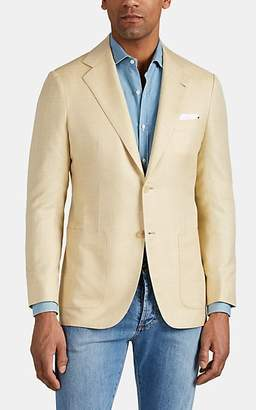 Kiton Men's KB Cashmere-Blend Two-Button Sportcoat - Light, Pastel yellow