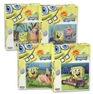 Nickelodeon 1 piece of 6 Assorted Color (Random Selection) 100-piece Spongebob Squarepants Puzzles