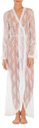 Jonquil Petal Sheer-Lace Robe, White $128 thestylecure.com