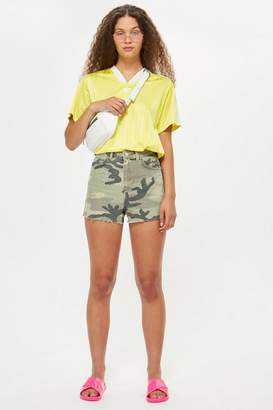 Topshop Camouflage Mom Shorts