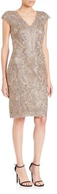 Tadashi Shoji Lace Sheath Dress $408 thestylecure.com