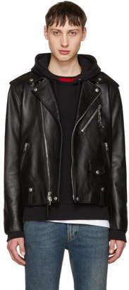 Coach 1941 Black Leather Moto Jacket