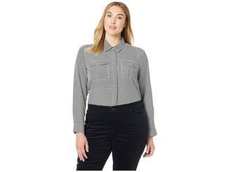 Lauren Ralph Lauren Plus Size Crepe Button Down Shirt
