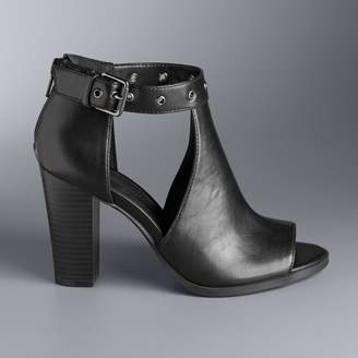Vera Wang Simply Vera Staring Women's High Heel Ankle Boots