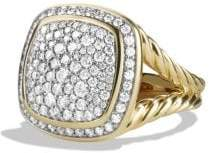 David Yurman Albion Ring With Diamonds In 18K Gold