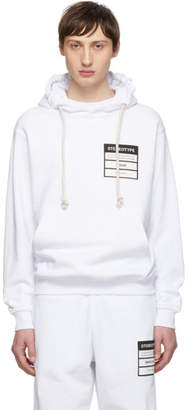 Maison Margiela White French Terry Stereotype Hoodie