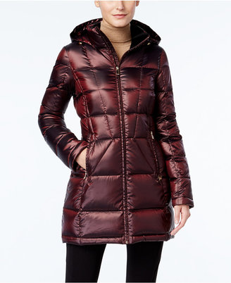 Calvin Klein Hooded Packable Down Puffer Coat $220 thestylecure.com