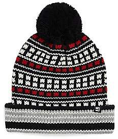 Block Headwear Men's Fairisle Cuff Pom-Pom Hat