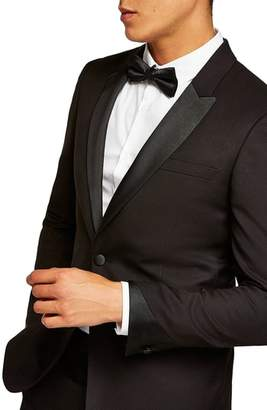 Topman Skinny Fit Satin Lapel Tuxedo Jacket