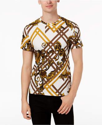 Versace Men's Geometric Print T-Shirt