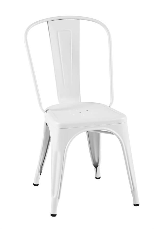 Tolix - A Chair Outdoor, weiß matt