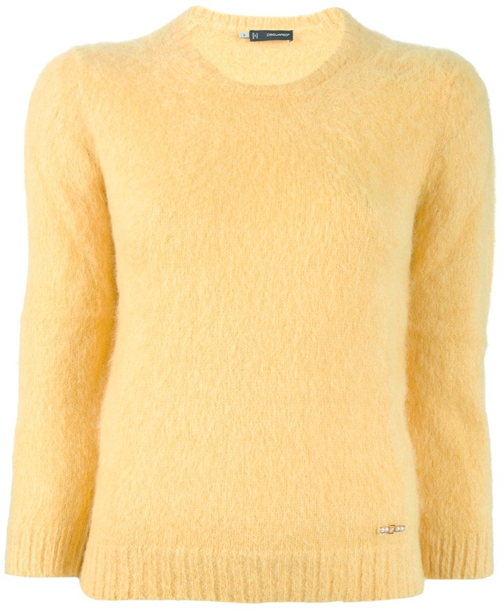 DSquared Dsquared2 cropped sleeve jumper