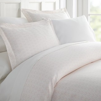 Noble Linens Premium Ultra Soft Classic in Pink Pattern 3 Piece Duvet Cover Set