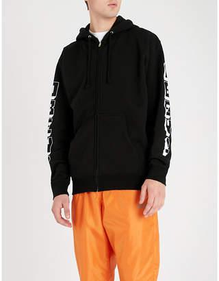 Obey New World 3 logo-print cotton-blend hoody