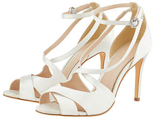 Monsoon Ciara Cross Over Strappy Bridal Sandals