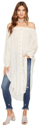 Free People - Wild Adventures Maxi Shirt Women's Clothing $168 thestylecure.com