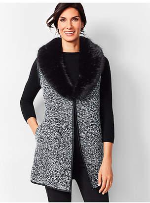 Talbots Fur-Trim Boucle Vest