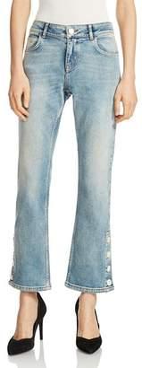 Maje Popsem Cropped Flared Jeans