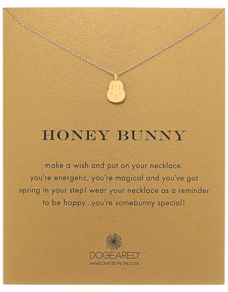 Dogeared Honey Bunny Reminder Necklace $48 thestylecure.com