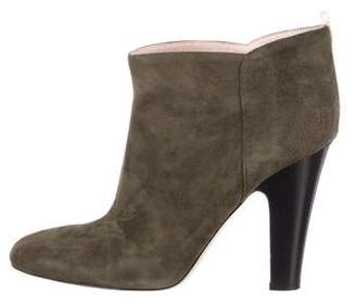 Sarah Jessica Parker Suede Round-Toe Ankle Boots