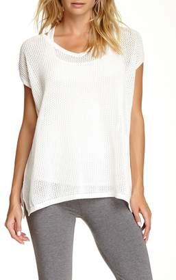 Joan Vass V-Neck Mesh Sweater