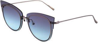 Cat Eye Diff Eyewear Demi Metal Cat-Eye Sunglasses