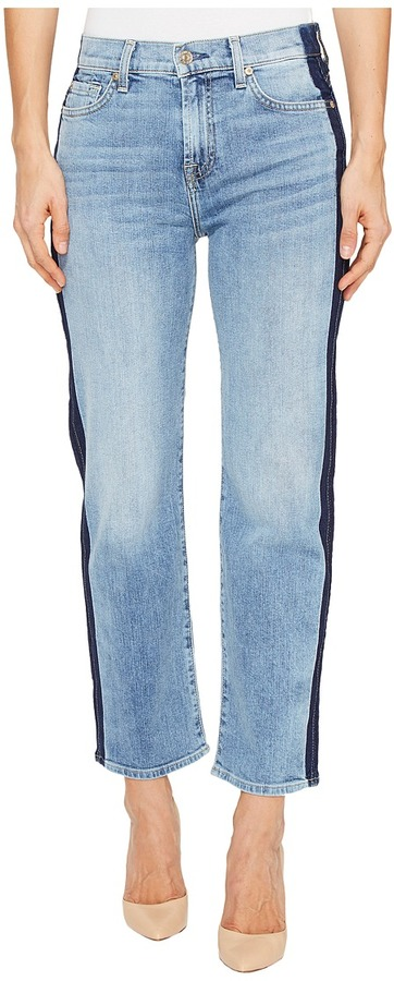 7 For All Mankind 7 For All Mankind - Kiki Jeans w/ Shadow Side Seam in Gold Coast Waves Women's Jeans