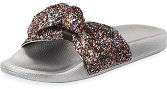 Kate Spade Shellie Glitter Slide Pool Sandal, Multi