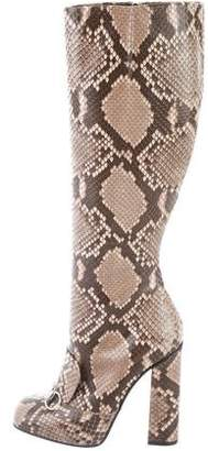 Gucci Lillian Snakeskin Boots