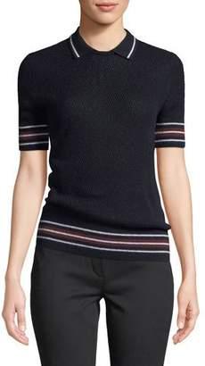 Loro Piana Wellesley Short-Sleeve Knit Polo Top