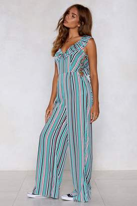 Nasty Gal A Poet and You Didn't Know It Striped Jumpsuit