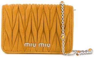 Miu Miu micro Matelassé crossbody bag