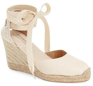 Women's Soludos Wedge Lace-Up Espadrille Sandal $94.95 thestylecure.com