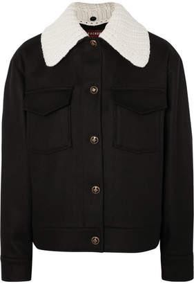 ALEXACHUNG Wool And Cashmere-blend Felt Jacket