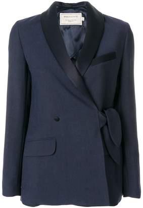 MAISON KITSUNÉ shawl collar knotted jacket