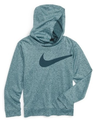 Toddler Boy's Nike Swoosh Dri-Fit Hoodie $28 thestylecure.com