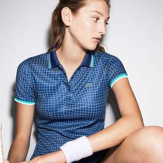 Lacoste Women's SPORT Net Print Technical Pique Tennis Polo