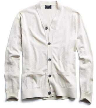 Todd Snyder Cotton Cardigan in Beige
