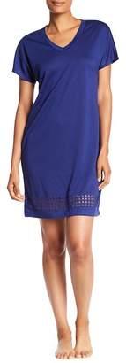 Catherine Malandrino V-Neck Short Sleeve Sleep Shirt