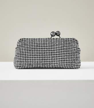Reiss BELL EMBELLISHED CLUTCH Silver