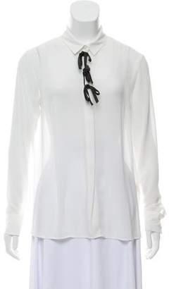 Sonia Rykiel Sonia by Semi-Sheer Long Sleeve Blouse