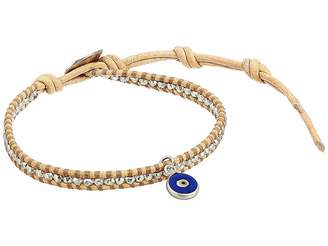 Chan Luu Blue Evil Eye Single Wrap Bracelet