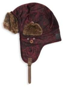 True Religion Faux Fur-Trimmed Aviator Hat