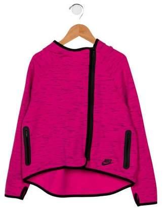Nike Girls' Hooded Zip-Up Jacket