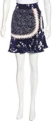 Issa Silk Printed Skirt